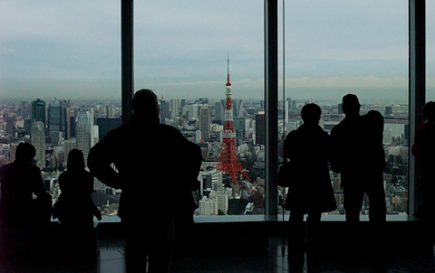 東京タワー 六本木ヒルズより