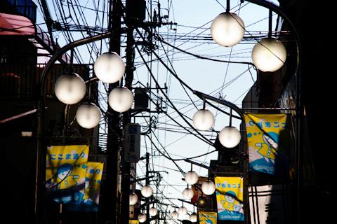 商店街の街灯 写真
