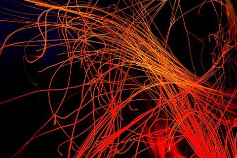 発光体のようなクラゲの足 写真