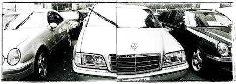パノラマの車の写真