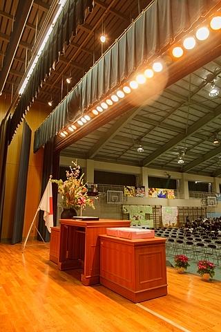 卒業式の舞台